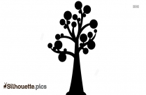 Beautiful Big Tree Silhouette, Clipart