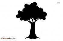 Tree Drawing Silhouette Clipart Image
