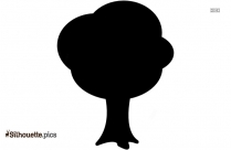 Tree With Large Leaves Silhouette Illustration