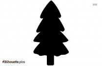 Simple Christmas Tree Drawing Silhouette