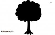 Oak Tree Silhouette Free Vector Art