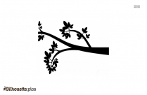 Black Maple Leaves Silhouette Image