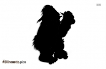 Cartoon Troll Silhouette Clip Art