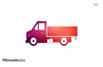 Cartoon Truck Illustration Silhouette Image