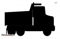 Cartoon Truck Silhouette Background