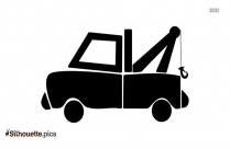 Cartoon Truck Silhouette Drawing, Art