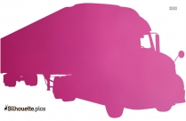 Cartoon Truck Silhouette Drawing, Clipart
