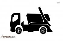 Cartoon Truck Vector Silhouette