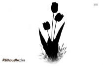 Tulips Roses Clipart ||tribal Flower Drawing Silhouette