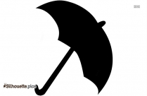 Cartoon Umbrella On Silhouette