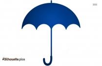 Black And White Heart Showering Umbrella Silhouette