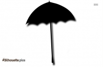 Cartoon Umbrella Silhouette Printable