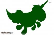 Cartoon Unicorn Silhouette Image And Vector