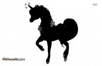 Unicorn Running Silhouette Background