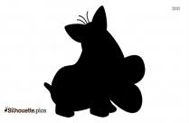 Cartoon Valentine Day Dog Silhouette