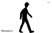 Couple Walking Together Silhouette Vector