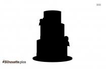 Cartoon Wedding Cake Silhouette