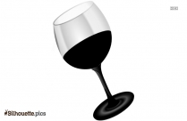 Cartoon Wine Chalice Silhouette