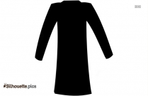 Cartoon Winter Coat Silhouette