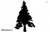 Christmas Tree Silhouette Illustration Vector