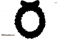 Cartoon Winter Wreath Silhouette