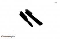 Large Rubber Cushion Brush Silhouette Image