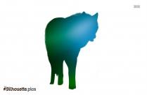 Cartoon Wolf Silhouette Image