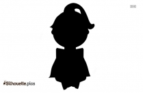 Cartoon Woman Reading Silhouette Icon