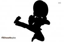 Free Karate Girl Silhouette