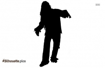 Cartoon Zombie Costume Silhouette