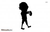 Cartoon Dog Silhouette Art