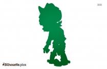Cartoon Zombie Dog Silhouette Art