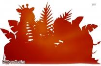 Cartoon Zoo Animals Silhouette Vector Free