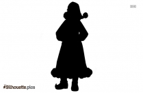 Cartooon Mrs Claus Silhouette Illustration