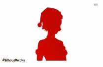 Cartooon Mrs Claus Silhouette Vector And Graphics Image