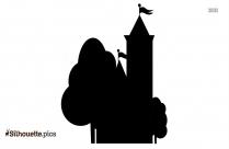 Castle Art Silhouette Free Vector Art
