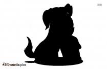 Cartoon Dog Silhouette Background Image