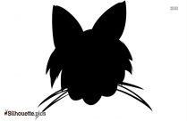 Cat Face Silhouette Clipart
