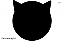 Cat Face Silhouette Free Vector Art