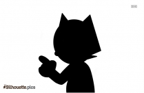 Cat Finger Injury Silhouette Image And Vector