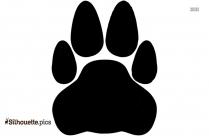 Fox Footprint Silhouette Drawing
