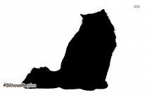 Cat Cartoon Silhouette Image And Vector
