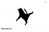 Barking Dog Silhouette Illustration