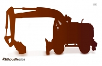 Cat M318d Wheel Excavator Silhouette