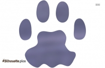 Cat Paw Print Silhouette Background