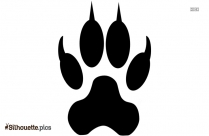 Cat Paw Silhouette Art