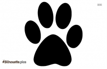 Cat Paws Cartoon Silhouette Clipart Image
