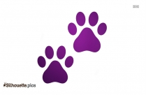 Cat Paws Cartoon Silhouette Drawing