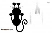 Cartoon Cat Walking Silhouette