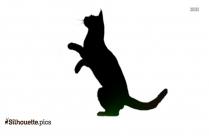 Cat Jumping Silhouette Illustration